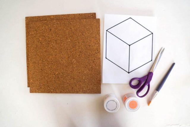 DIY tableau liege cube (1 of 23)