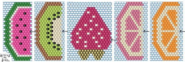 patrons miyuki fruits brick stitch copy