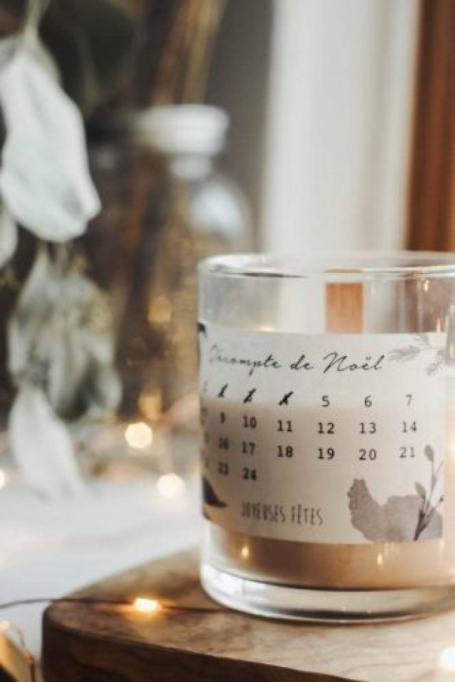 DIY bougie calendrier avent