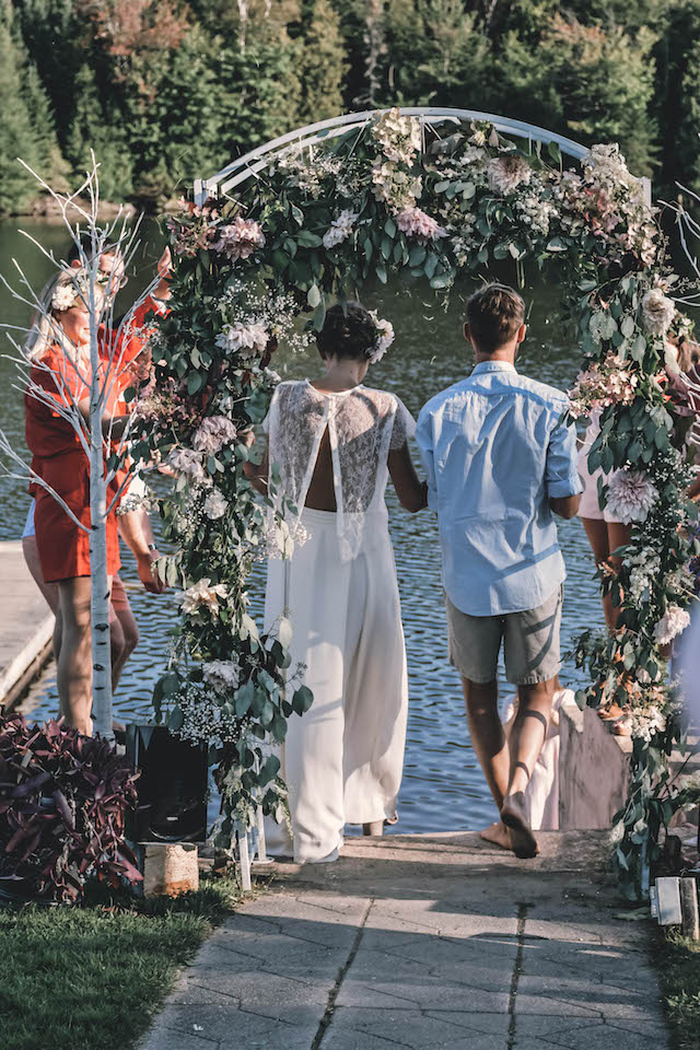 DIY wedding dress ceremony