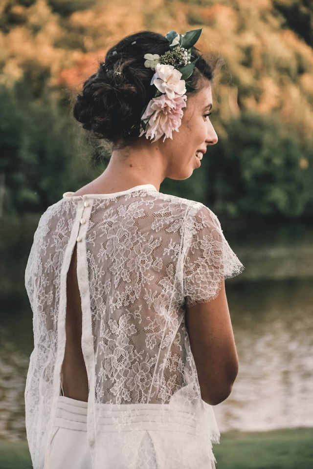 DIY wedding dress lace top