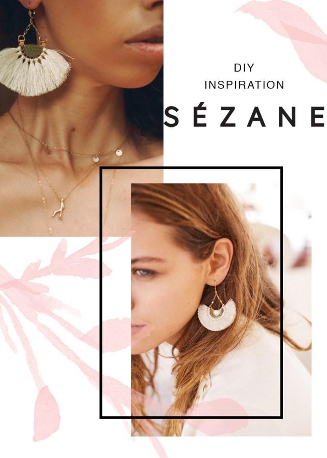 Sezane earring DIY