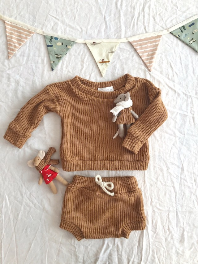 bloomer et pull effet tricot