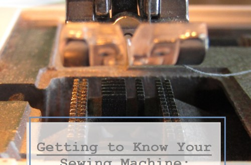 For this Sewing Saturday, we're going to get to know the basics of your machine.