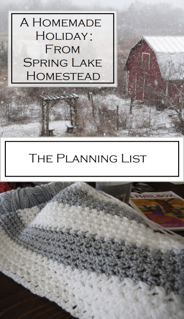 A Homemade Holiday: The Planning List