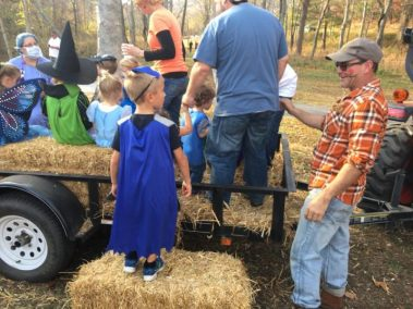 Enjoy the hay ride