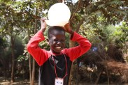Junior coud not hide his joy as he participated in the running competition with an inflated ballon during Day 4 of the VBS 2015