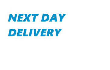 Next Day Delivery available on all orders from stock