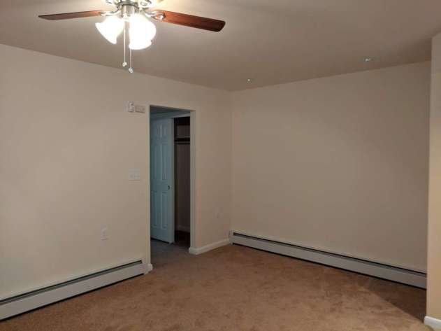 Living room looking towards closet.
