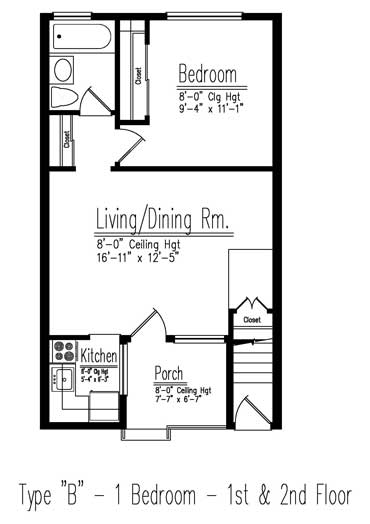 Type B floor plan