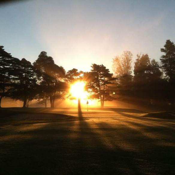 Looking down #3 at sunrise by Assistant Grounds Superintendent Kyle Sutton.  Tremendous!