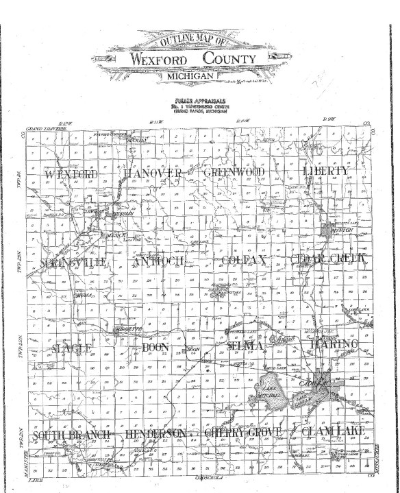 1908-wexford-county-map