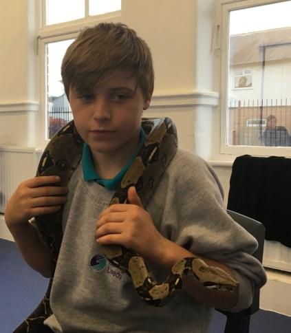 Sizzling slithering snake scarf!