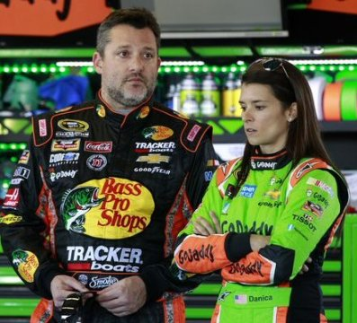 3-Time Cup Champion Tony Stewart and Danica Patrick