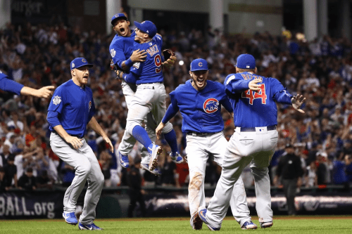 The Cubs Win - Photo: Wall Street Journal