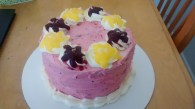 Raspberry and lemon cake