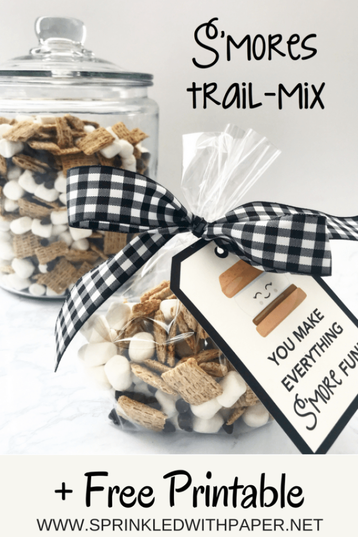 S'mores trail mix pin for later