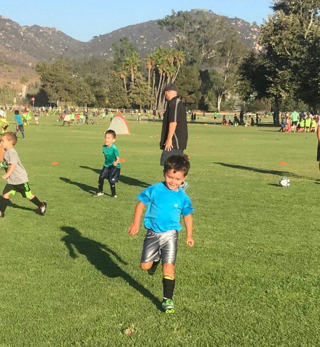 Jack at soccer practice