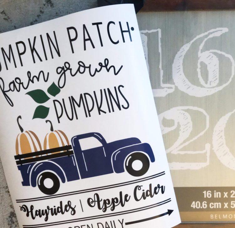 pumpkin patch sign printable
