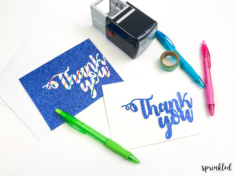 Supplies needed to create custom Thank You cards