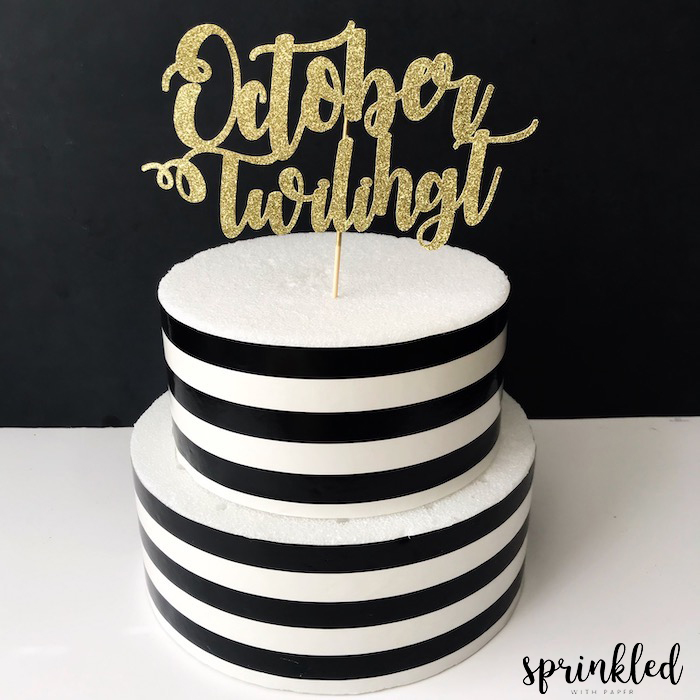 cake topper with cricut