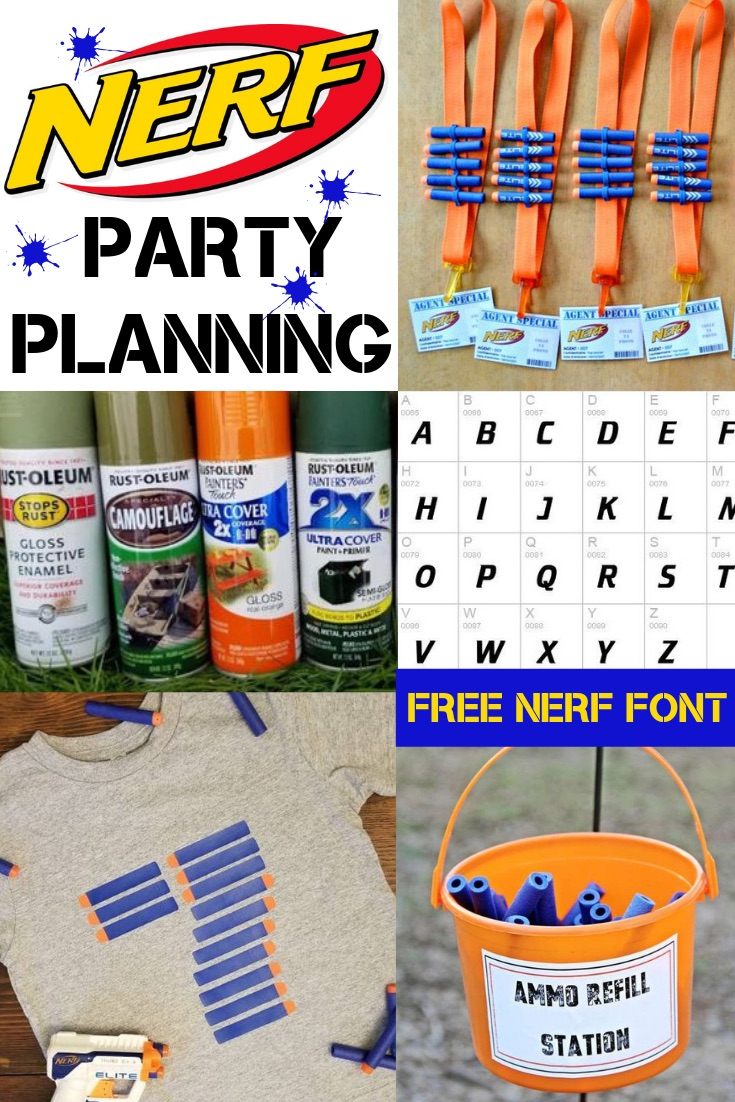 This is an image of Free Printable Nerf Party Invitations with thank you
