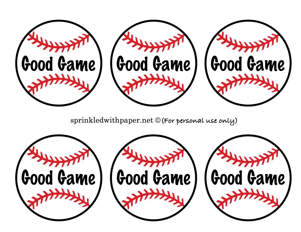 Baseball Team Snack Ideas Sprinkled With Paper