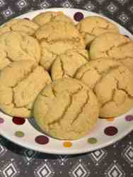 soft and chewy orange sugar cookies