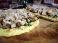 """Chicken Mushroom Pesto """"Pizza"""""""
