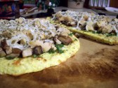 "Chicken Mushroom Pesto ""Pizza"""
