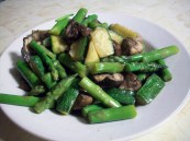 Marinated Mushroom and Asparagus Warm Salad