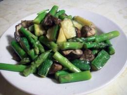 Marinated Mushroom and Asparagus Warm Salad