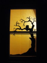 Halloween Window Silhouette
