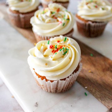 Vanilla Spice Brown Sugar Cupcakes