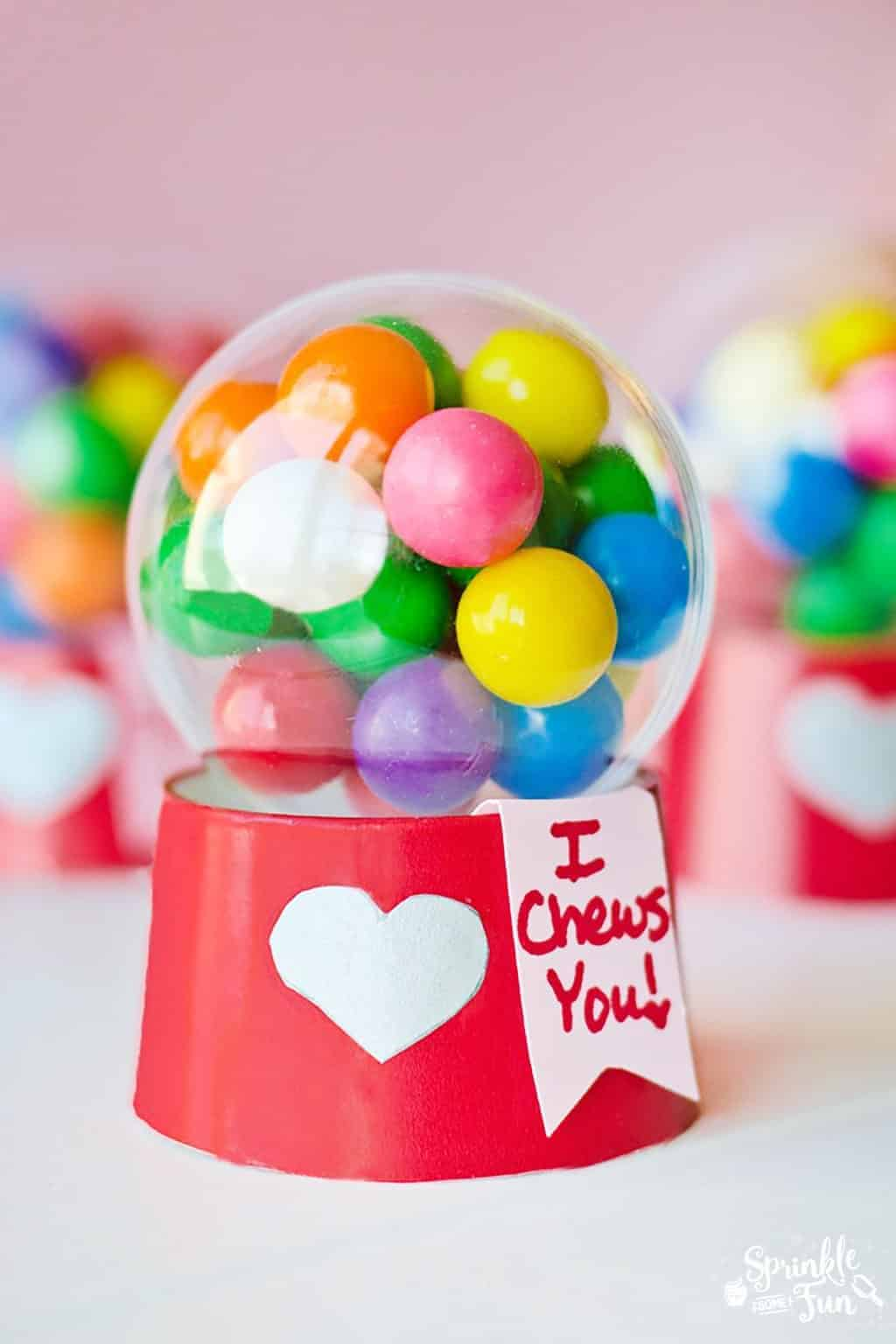 Mini Bubblegum Machine Valentines