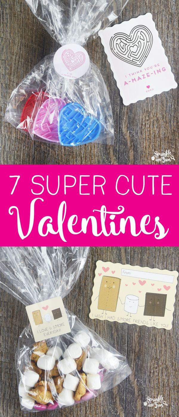 7 Super Cute Valentines - Sprinkle Some Fun