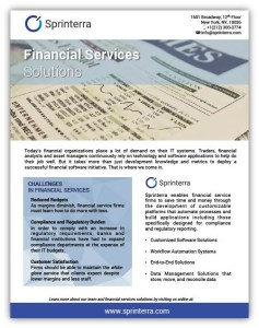 Sprinterra Financial Services Data Sheet