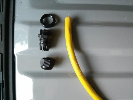 The parts of a waterproof grommet.