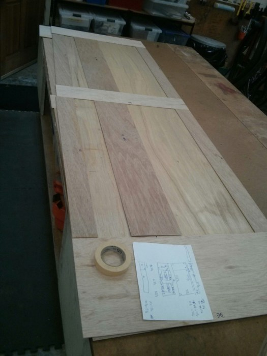 """The plywood wall panels are 1/8"""" doubled up with staggered seams to make a 1/4"""" thick panel."""