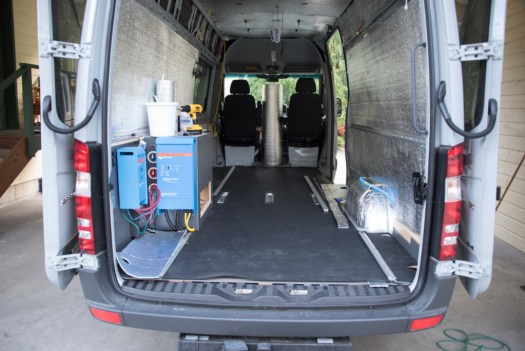 Installing stall mat - the second layer of our flooring