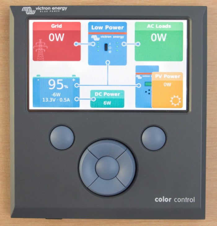 Victron Color Control GX system monitor