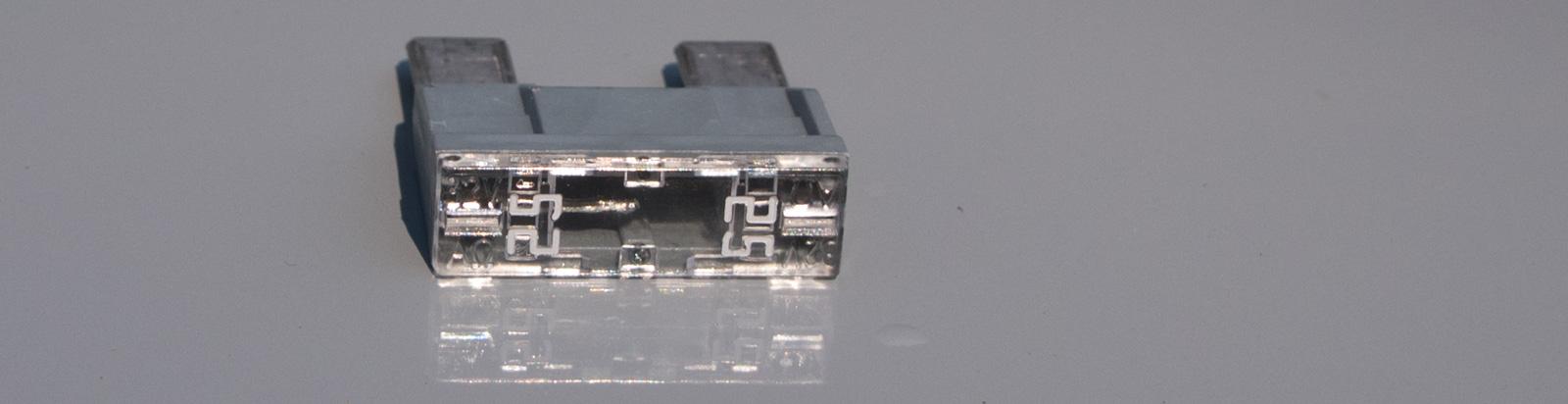 Blown 25 Amp mega fuse
