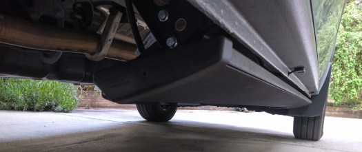 Power running board stowed