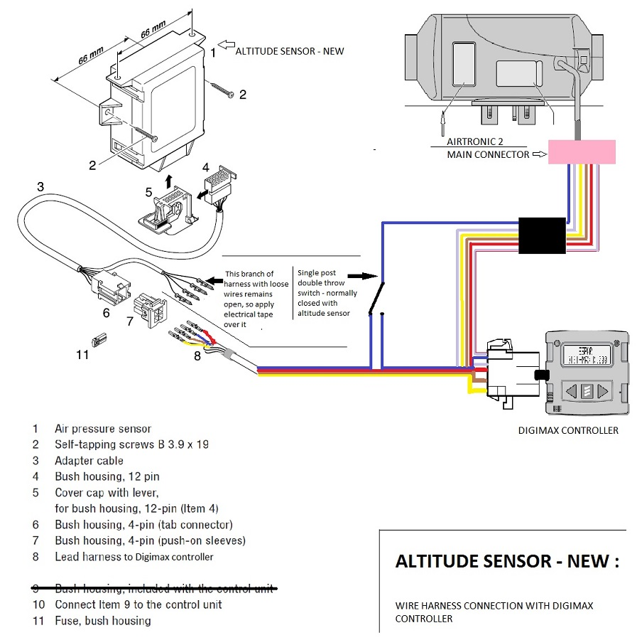 Airtronics Wiring Diagram Will Be A Thing 3 Way Switch Schematic Diagrams For Residential Espar Airtronic Altitude Sensor Sprinter Adventure Van Automotive