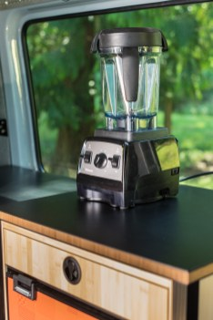 Apparently you have to have a picture of a Vitamix blender on your van countertop, so here you go.
