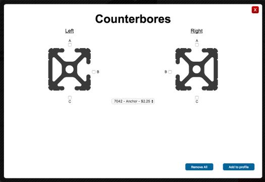 8020 extrusion counterbore explanation