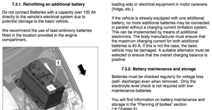 Aux battery info close-up