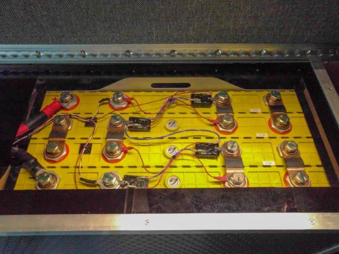 Lithium battery installed in van