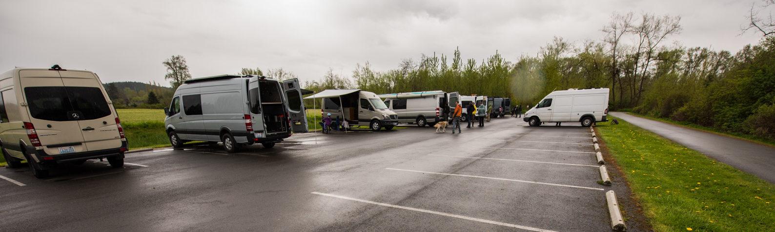 Sprinter vans in the Tolt MacDonald parking lot