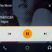 Music playing from Google Play through the Android Auto interface